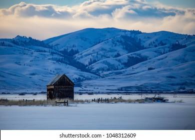 rural Idaho in the winter