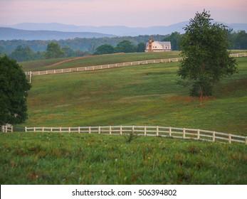 Rural landscape in Albemarle County, Virginia