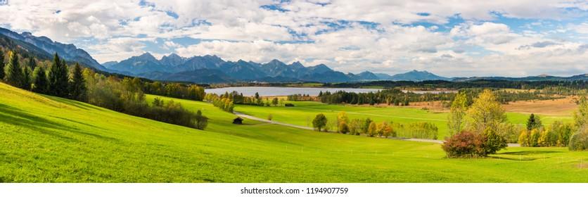 rural landscape in Bavaria at autumn