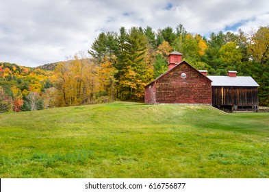 Rural Landscape in the Berkshires, MA, on a Cloudy Autumn Day.