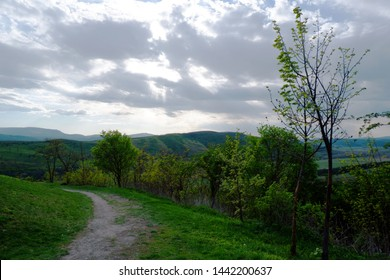 rural landscape with cloudy sky