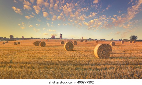 rural landscape, color retro, vintage