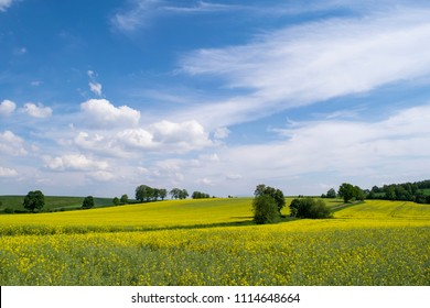 Rural landscape in the Klodzko Valley of Southern Poland
