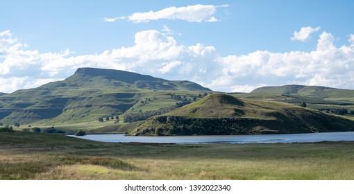 Rural landscape in the Lower Drakensberg area, KwaZulu Natal, South Africa