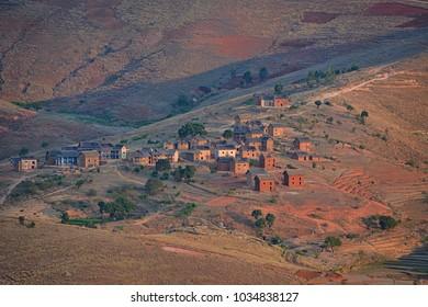 Rural landscape of Madagascar
