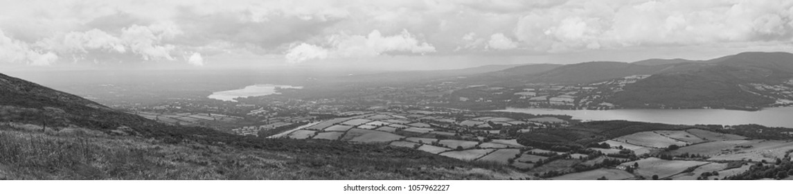 Rural Landscape Panorama, River Shannon, Ireland