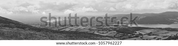Rural Landscape Panorama, River Shannon, Ireland