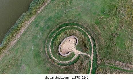 Rural landscape shot with drone