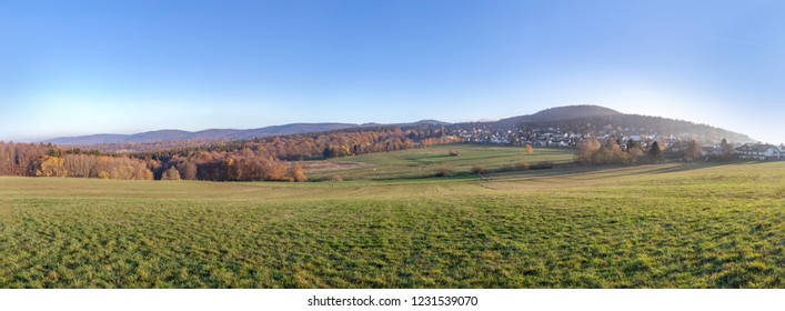 rural landscape in the Taunus region in beautiful morning light