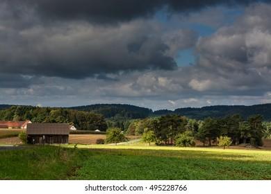 Rural landscape.Sky.Field.