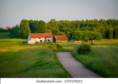 Rural lansdcape of Warmia region in Poland