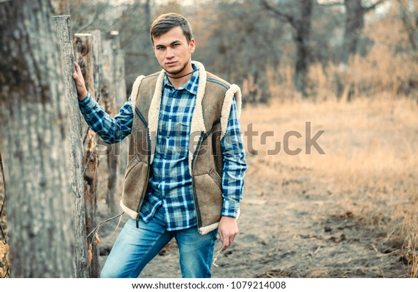 bc353f8fc8f Rural Man Wearing Cowboy Boots Skirt Stock Photo (Edit Now) 1079214008