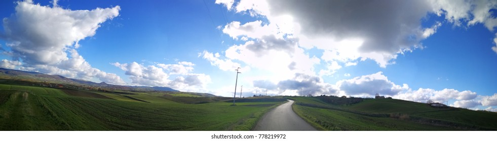 rural panorama of basilicata region in Southern Italy