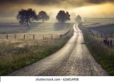 Rural Roads.Rural Village Landscape