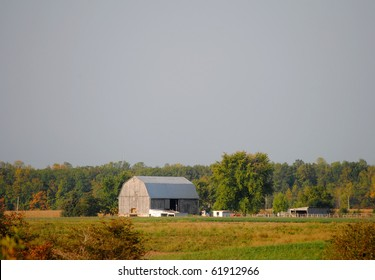 Rural Scene with Distant Barn