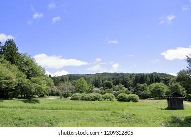 rural scene in Tono, northern Japan (summer)
