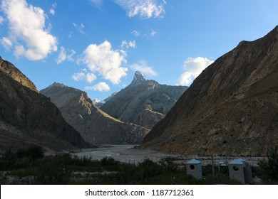 Rural Scene View of skardu Village, the gateway to K2 base camp, Pakistan.