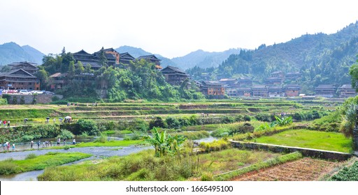 Rural scenery in northwest China's liuzhou