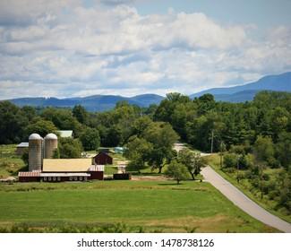 Rural scenery Vermont farm summer