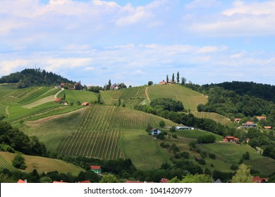 Rural settlement in Styria, Austria, wine route