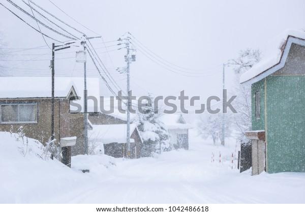 Rural snow scene