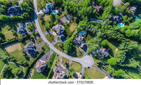 Rural subdivision Aerial top view