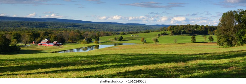 Rural view of Farm land in Sussex County New Jersey USA