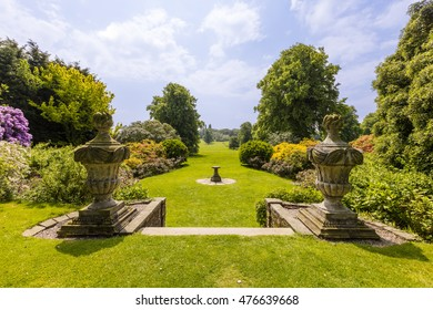 Rural view of the garden and grounds of an English Country Estate.