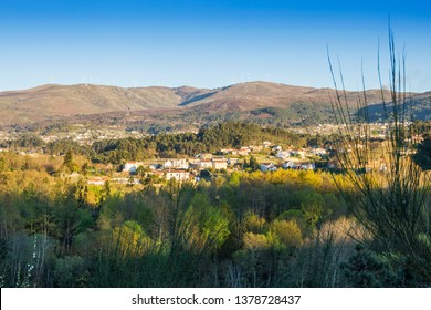 Rural village between forests in Melgaco town, Portugal