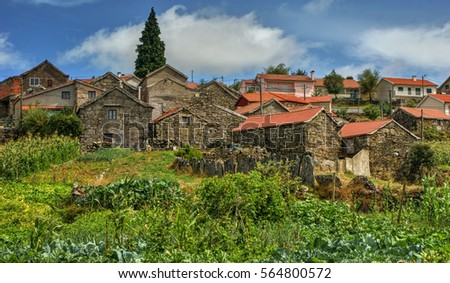Rural village of Lamas de Olo in Vila Real, Portugal