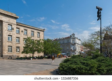 RUSE, BULGARIA - MAY 1, 2008: Building of Courthouse at the center of city of Ruse, Bulgaria