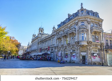 Ruse, Bulgaria - October 21, 2017: Rousse state opera theater. Founded in 1949, one of oldest state cultural institutions in Bulgaria