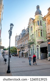 Ruse/Bulgaria - 07.09.2018: This the view on the street of Ruse town in Bulgaria. This town is located just near the borders with Romania.
