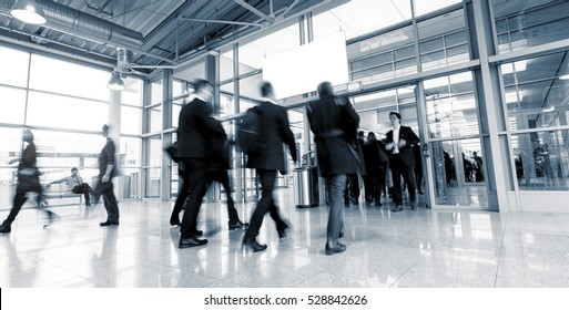 Rush Hour at a European Tradeshow entrance