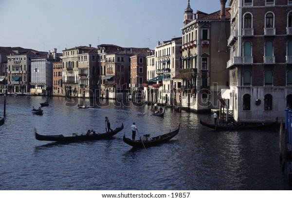 Rush Hour Traffic on Venice Waterways