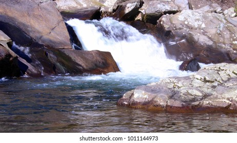 Rushing Rapids of a Large River Deep in the Smokey Mountains.