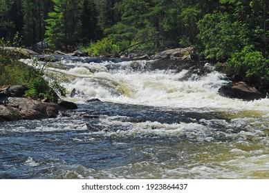 Rushing Waters in the Great North Woods on the Falls Chain in Quetico Provincial Park in Ontario