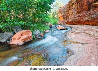 Rushing Waters at Slide Rock State Park Oak Creek State Park - Sedona Northern Arizona