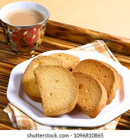 Rusk With Tea or Milk