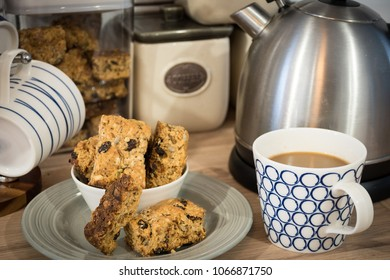 Rusks and coffee is a favorite snack time in South Africa. These are hearty homemade health rusks filled with nuts, raisins, seeds and fiber. Rusks are great for dunking in your coffee.