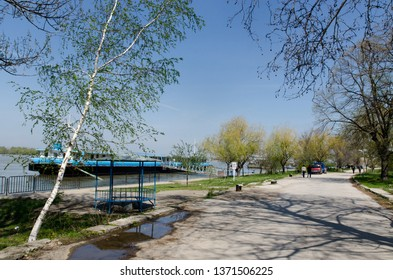 Russe/Bulgaria - April 13 2013: The Danube river waterfront in Russe. Russe is in the northeastern part of the country, on the right bank of the Danube