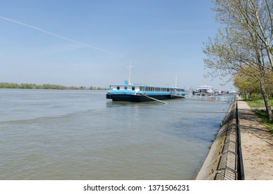 Russe/Bulgaria - April 13 2013: The Danube river waterfront in Russe. Ruse is in the northeastern part of the country, on the right bank of the Danube
