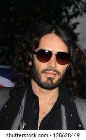 Russell Brand at the Topshop Topman LA Opening Party, Cecconis, West Hollywood, CA 02-13-13