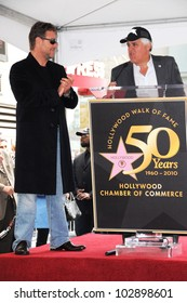 Russell Crowe and Jay Leno at the Russell Crowe star ceremony into the Hollywood Walk of Fame, Hollywood, CA 04-12-10