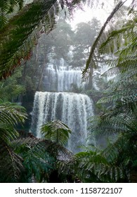 Russell Falls in Flood Mount Field National Park Tasmania