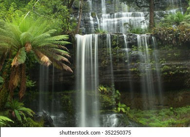 russell falls in Mt field national park tasmania