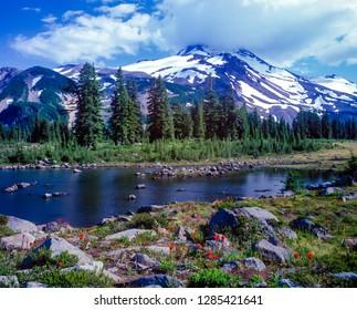 Russell Lake in Jefferson Park in the Mt Jefferson wilderness area, Oregon