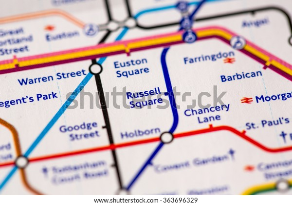 London Subway Map Russell Station.Russell Square Station On Map Piccadilly Stock Photo Edit Now