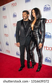 Russell Wilson and Ciara arrive at the 2019 Hollywood Beauty Awards at Avalon Hollywood in Los Angeles, CA on February 17, 2019.