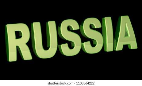 Russia. 3D Illustration.